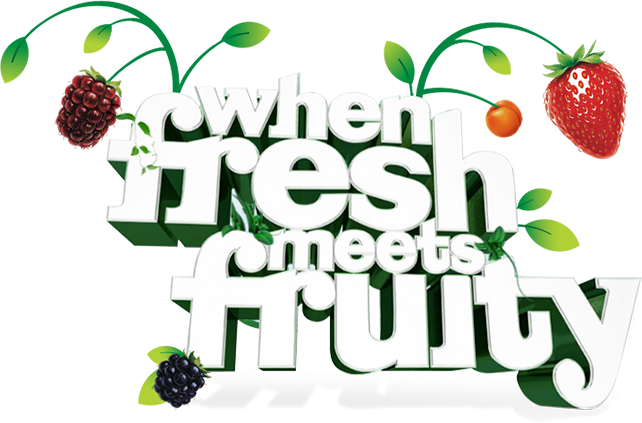 When Fresh meets Fruity text Fresh 'n Fruity image 642x423